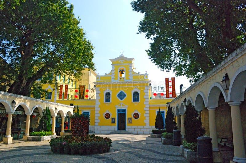 St Francis Xavier Church, Colonae, Macau fotos de stock royalty free