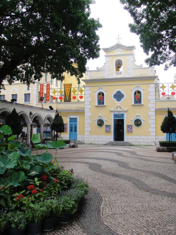 St Francis Xavier Church, Macao stock foto