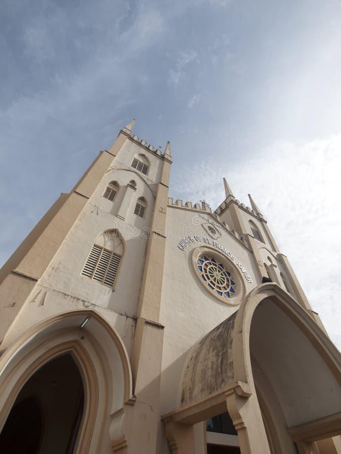 St Francis Xavier Church in Melaka Maleisië royalty-vrije stock afbeeldingen