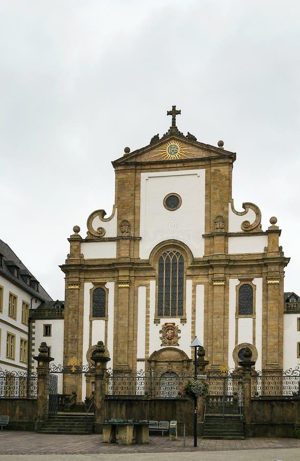 St. Francis Xavier Church, Paderborn, Duitsland stock fotografie