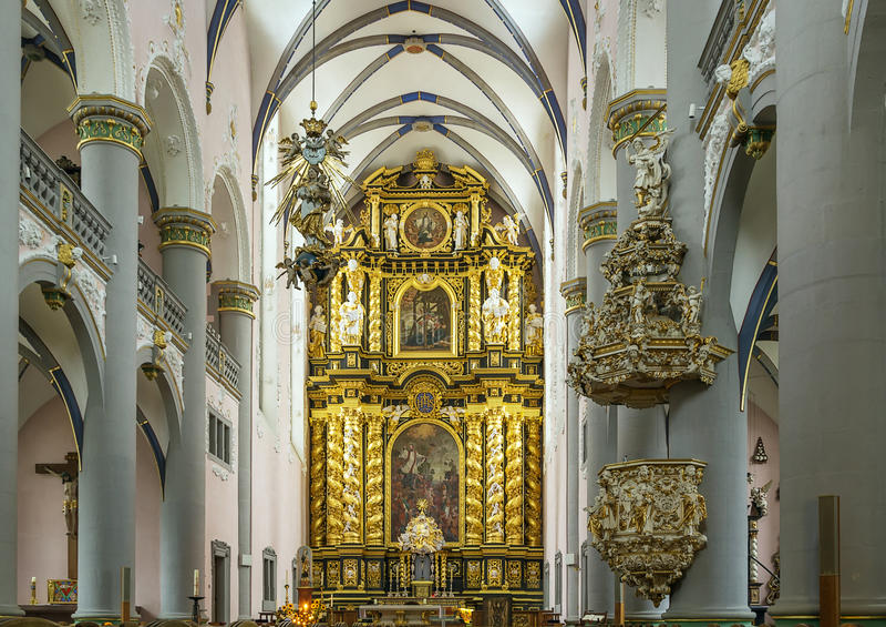 St. Francis Xavier Church, Paderborn, Duitsland stock afbeeldingen