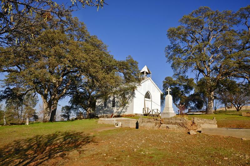 St Francis Xavier Church; Pueblo fantasma chino del campo fotos de archivo libres de regalías
