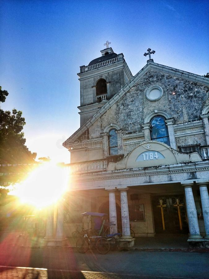 St Francis Xavier Church van Palompon, Leyte, Ph royalty-vrije stock foto's