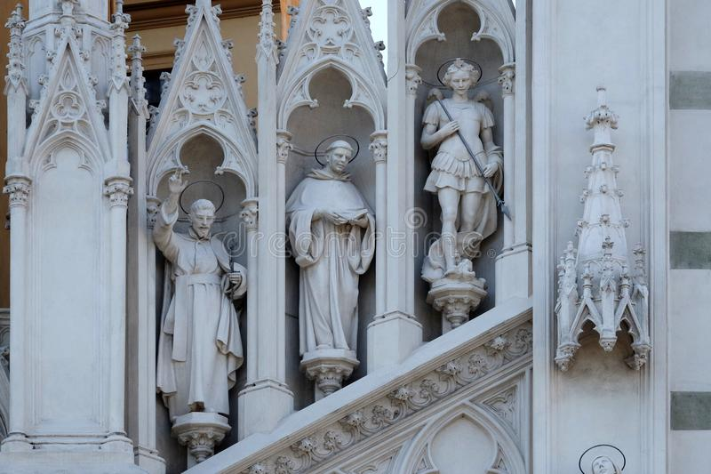 St Francis Xavier, Dominic de Guzman y Michael Archangel imágenes de archivo libres de regalías