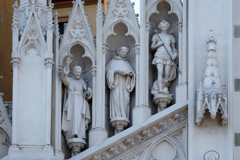 St Francis Xavier, Dominic van Guzman en Michael Archangel royalty-vrije stock foto