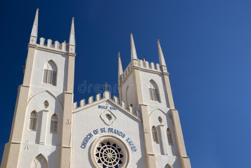 St. Francis Xavier's Kerk Malacca royalty-vrije stock foto