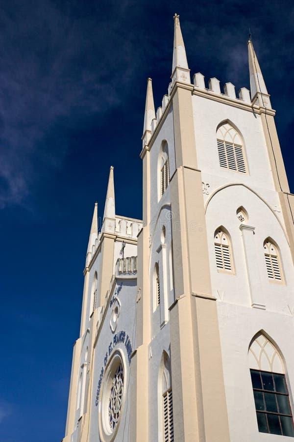 St. Francis Xavier's Kerk Malacca royalty-vrije stock fotografie