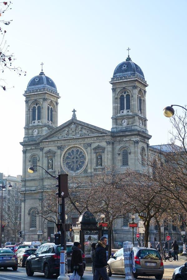 St Francis Xavier ` s Kerk in Parijs, Frankrijk royalty-vrije stock foto