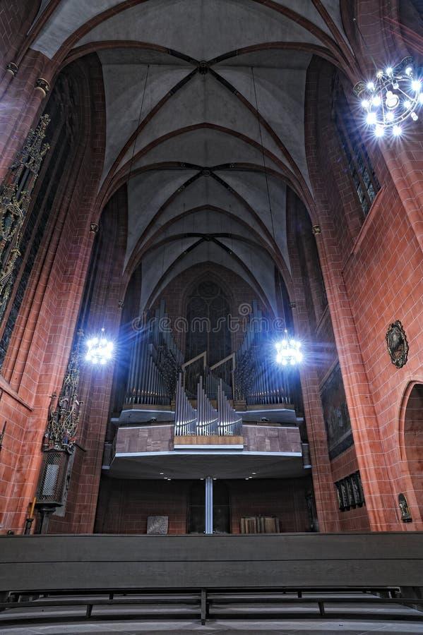 st frankfurt собора bartholomew стоковое изображение