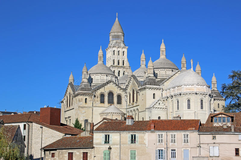 St Front Cathedral, Perigueux royalty-vrije stock foto