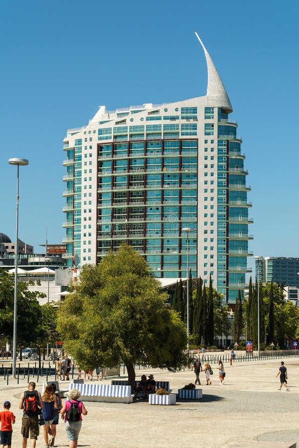 St Gabriel et saint Rafael Twin Towers à Lisbonne image libre de droits