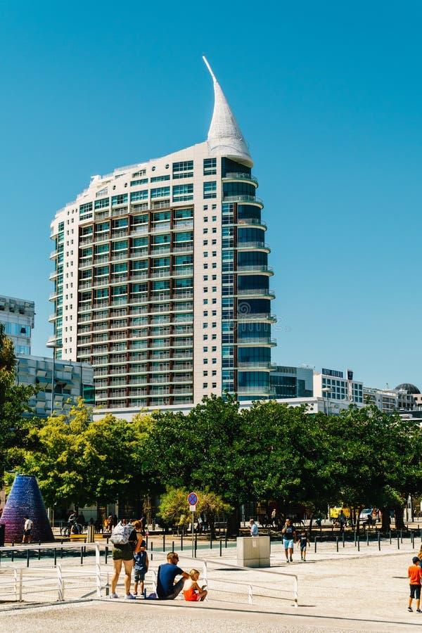 St Gabriel et saint Rafael Twin Towers à Lisbonne photos libres de droits