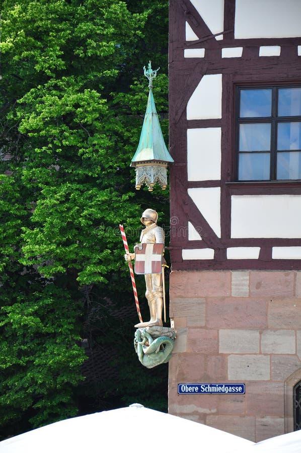 St Georg dans Obere Schmiedgasse à Nuremberg photo stock