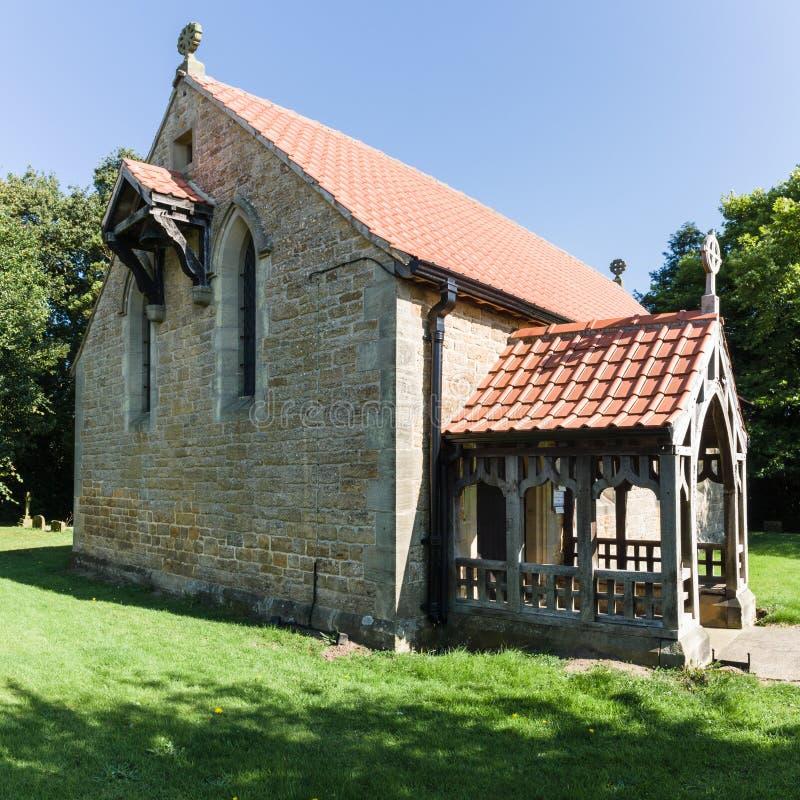 ST George ο μάρτυρας - Scackleton - βόρειο Γιορκσάιρ - UK στοκ εικόνες