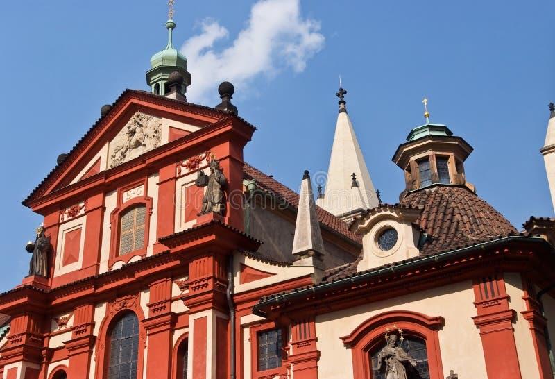 st george базилики Прага, Чешская Республика стоковое фото
