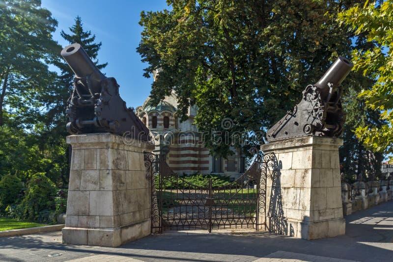 St. George мавзолей часовни завоевателя, город Pleven, Болгарии стоковое фото