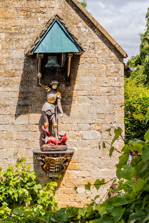 Free St George And Dragon Statue, Snowshill Manor, Gloucestershire, England. Stock Photo - 96682260