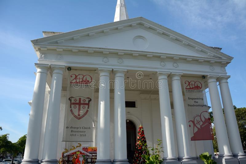 St George Anglican Cathedral, Georgetown, Penang, Malaisie images stock