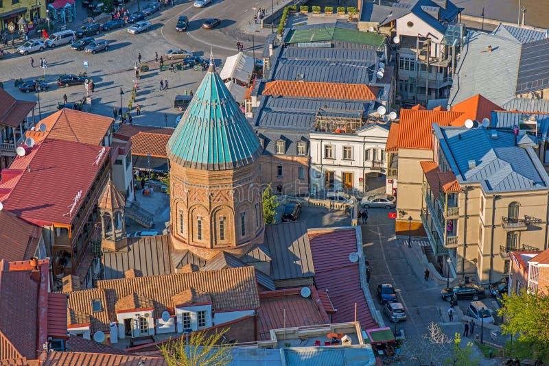 St George Armenian Cathedral em Tbilisi fotos de stock