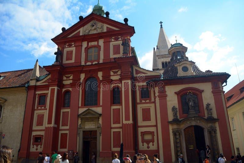 St George Basilica, Prague, République Tchèque images stock