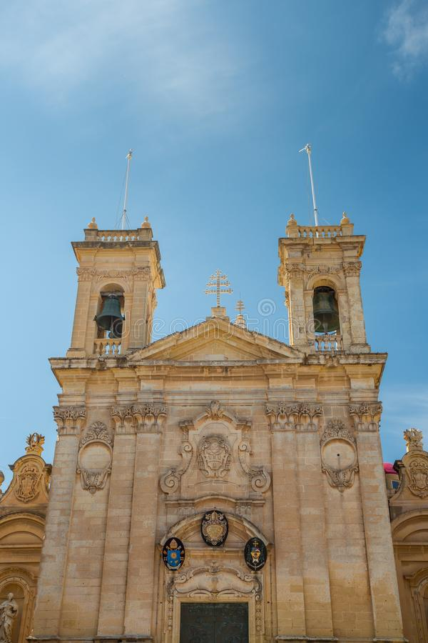 St George Basilica, Victoria, Malta. St George Basilica in Victoria, Malta stock images