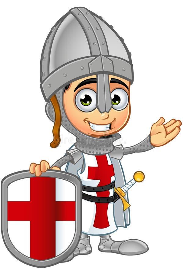 St George Boy Knight Character stock de ilustración