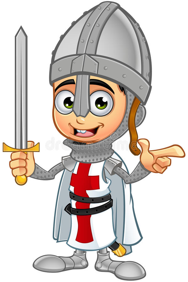 St. George Boy Knight Character Stock Vector ...