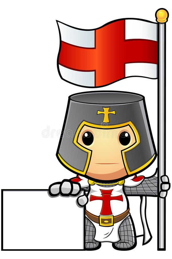 St George Cartoon Knight ilustração royalty free