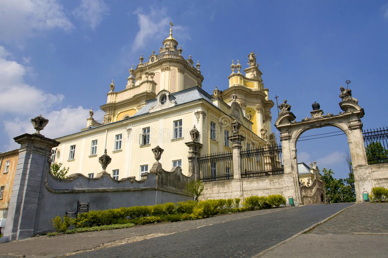 St. George Cathedral in Lviv stock images