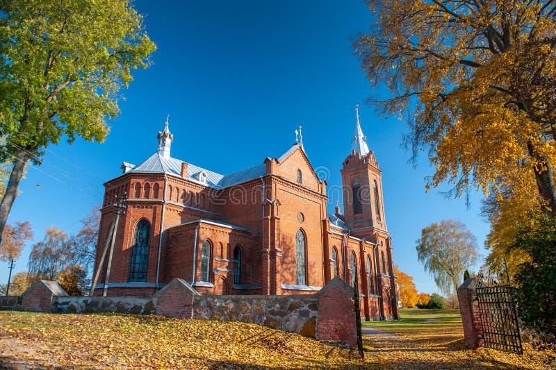 St George Catholic Church dans Zasliai photos libres de droits