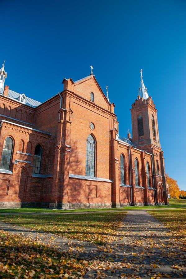 St George Catholic Church em Zasliai fotografia de stock royalty free