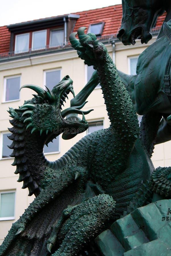 St George che uccide il drago, Berlino immagine stock libera da diritti