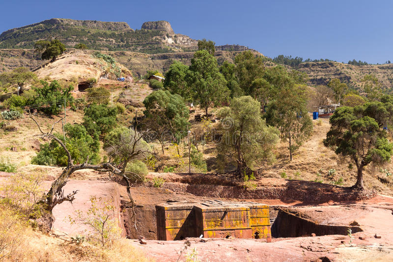 St George Church chez Lalibela en Ethiopie images stock