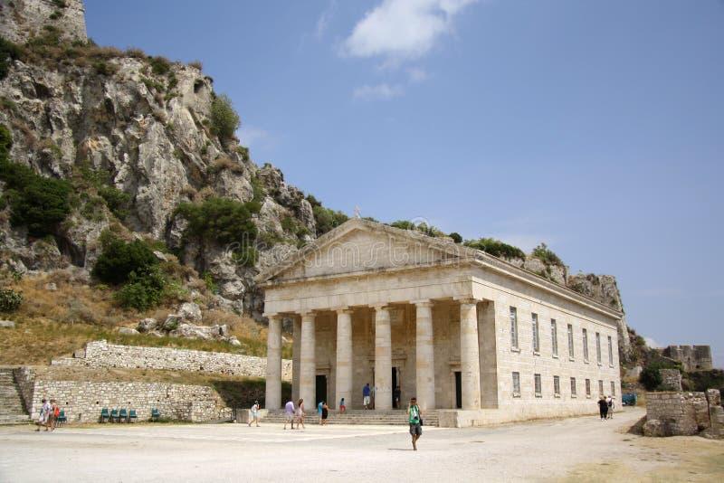 St George Church dans la vieille citadelle dans la ville de Corfou (Grèce) images libres de droits