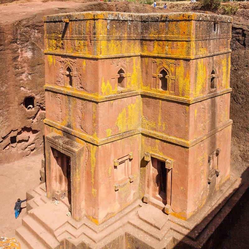 St George Church at Lalibela in Ethiopia royalty free stock photos