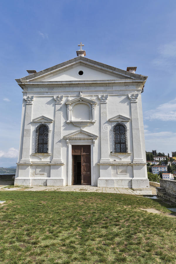 St. George Church in Piran, Slovenia royalty free stock images