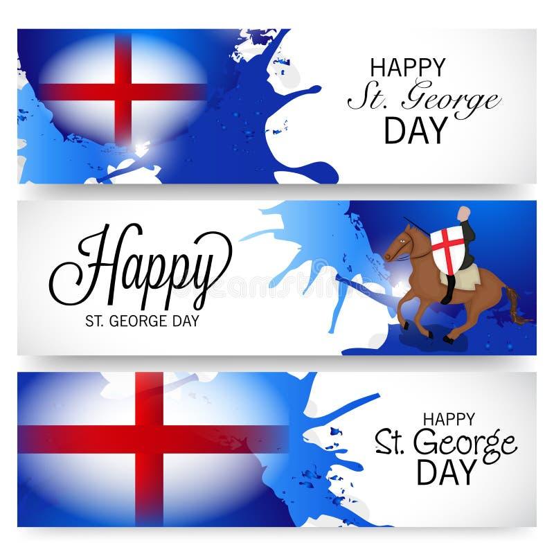 St George Day royaltyfri illustrationer