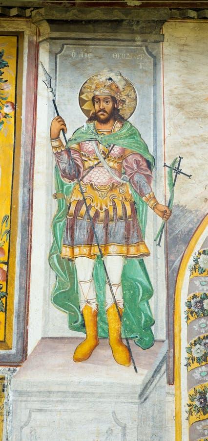 St George in de fresko's royalty-vrije stock foto