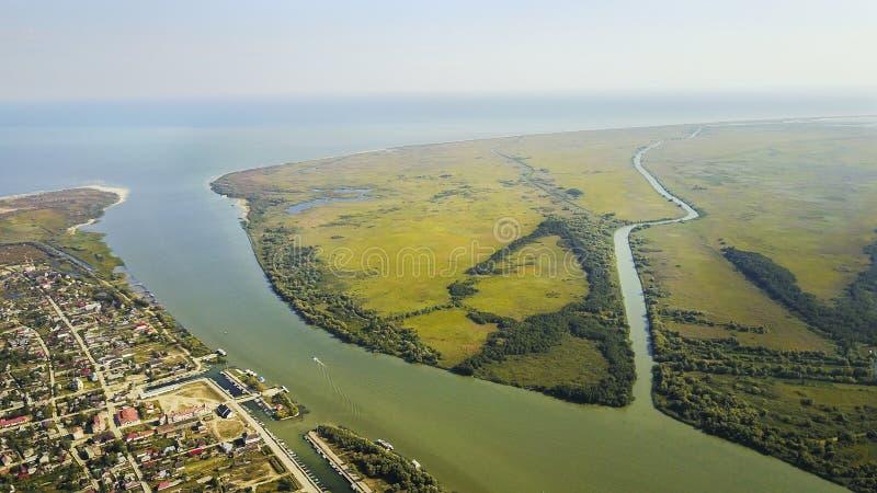 St George by, Donaudelta, Rumänien arkivfoto