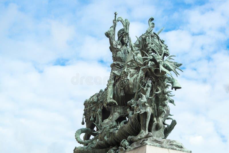 St George e o dragão, Éstocolmo fotos de stock royalty free