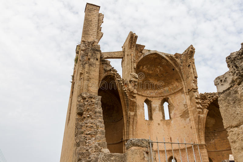 St George of the Greeks Church. Famagusta, Cyprus. St George of the Greeks Church, inside medieval Famagusta, Cyprus stock image