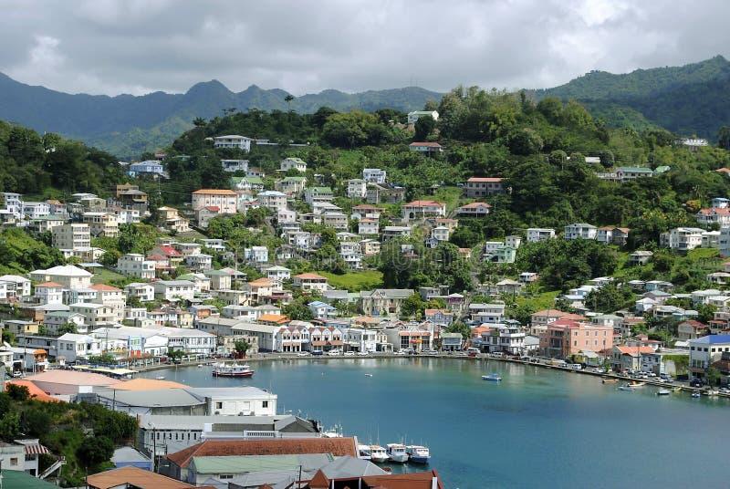 St George Hafen in Grenada stockfotos