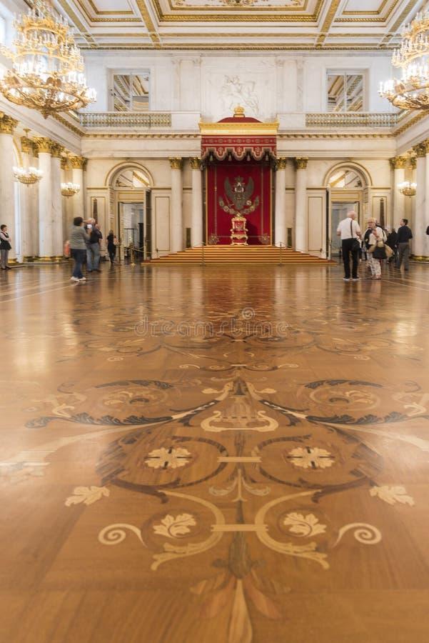 St George Hall State Hermitage Museum St Petersburg Ryssland fotografering för bildbyråer