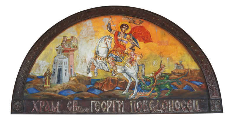 St. George Icon stock images