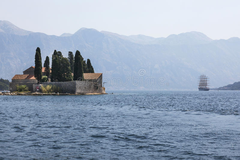 St. George Island in the Bay of Kotor, Montenegro royalty free stock images