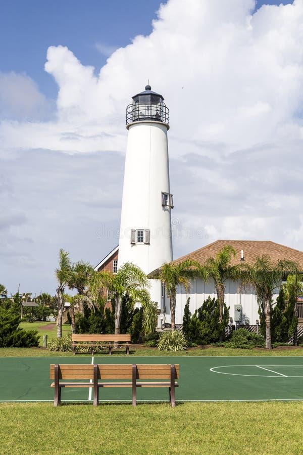 St George Island de phare près d'Apalachicola, la Floride, Etats-Unis photos stock