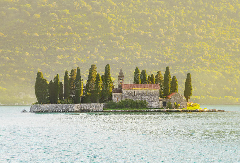 St.George Island near Perast in Bay of Kotor, Montenegro royalty free stock image