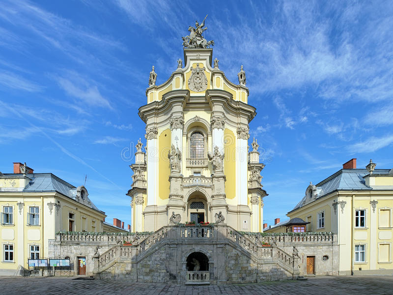 St George Kathedrale in Lemberg, Ukraine stockbilder