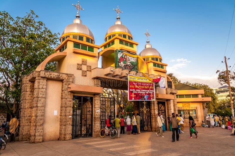 St. George kerk in Bahir Dar royalty-vrije stock fotografie