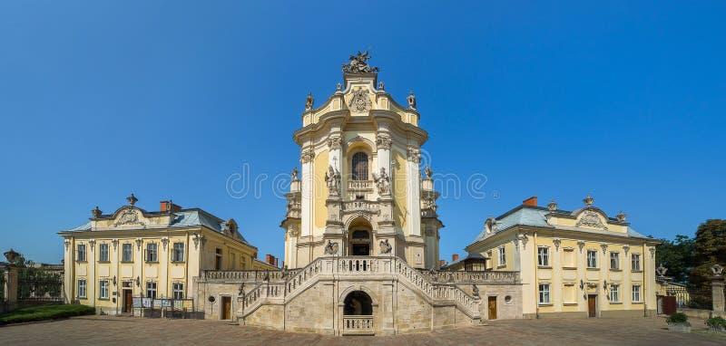 St George kerk in Lvov de Oekraïne stock fotografie